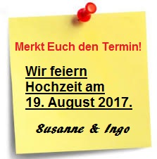 Save-the-date als Post it
