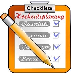 Hochzeitsvorbereitung Planung der Hochzeitsfeier